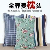 蕎麥枕頭單人雙人家用大人蕎麥皮枕芯喬麥殼枕頭芯頸椎整頭護頸枕