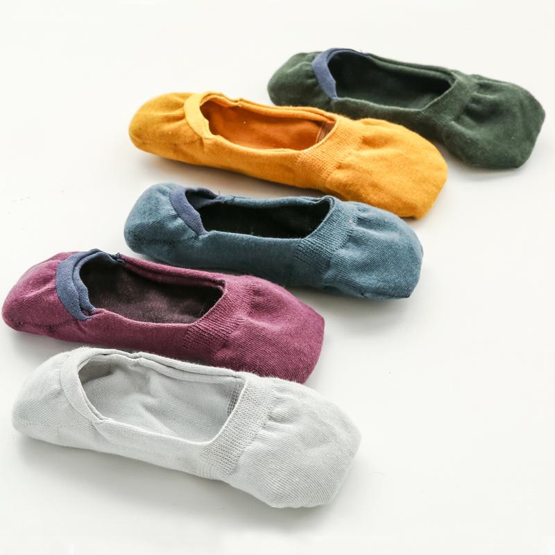 5双装船袜硅胶防滑低帮浅口