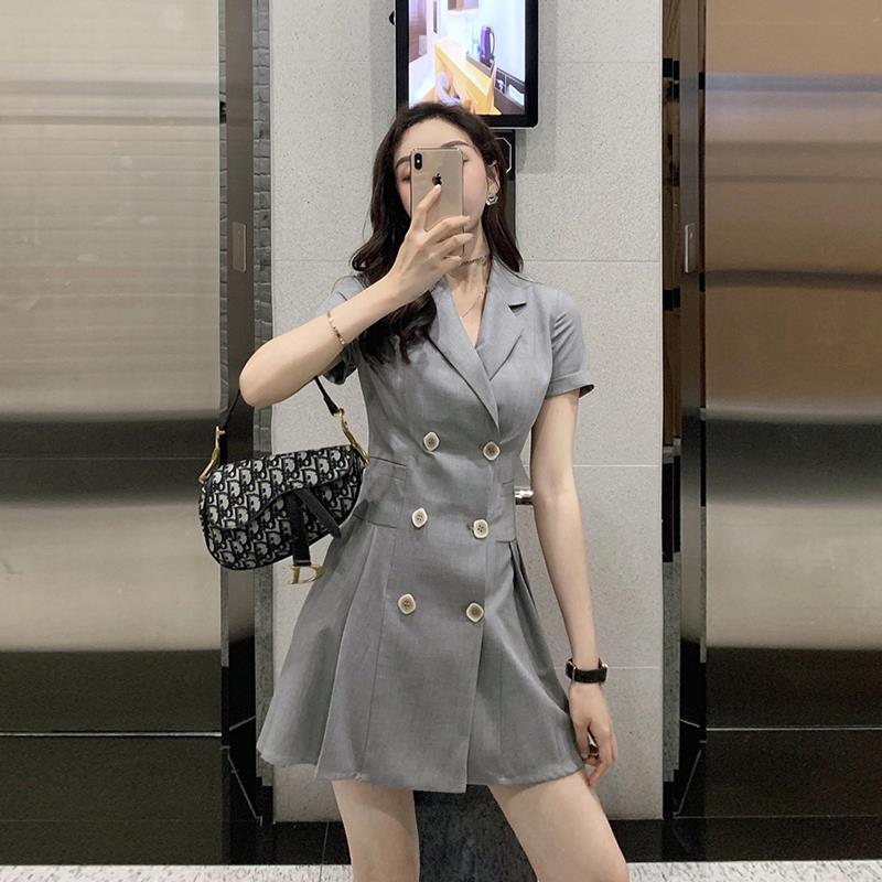 2019新款大码女装夏季梗桔连衣裙(非品牌)
