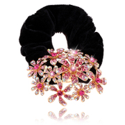 Package mail G010 shiny new hair accessories hair bands Korea boutique rhinestone flower hair band first flower headdress