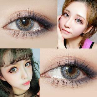 韩国进口混血大直径美瞳年抛女带度数自然棕色隐形眼镜XM 2片装