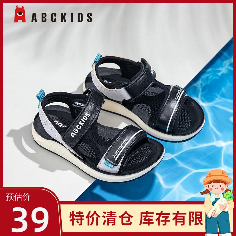 abckids儿童凉鞋夏季新款男童外穿户外防滑软底男沙滩鞋运动凉鞋