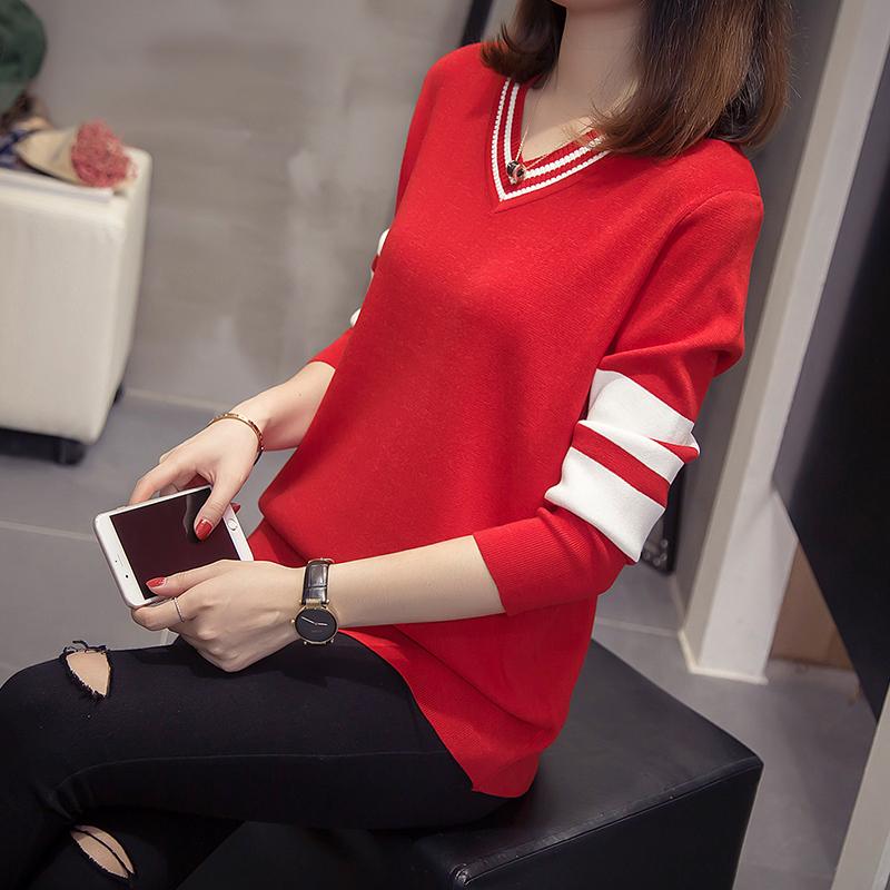 大码胖妹妹早秋装2020年新款女装遮肚上衣洋气韩版毛衣显瘦针织衫图片