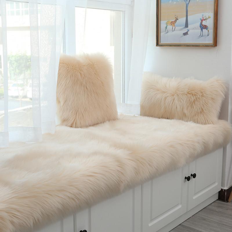 北欧ins定做长毛绒飘窗垫毯窗台垫落地窗现代简约阳台垫榻榻米垫限时秒杀