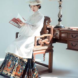 织造司原创舞法天女马面裙明制汉服敦煌飞天仿妆花织金纱4.5米摆