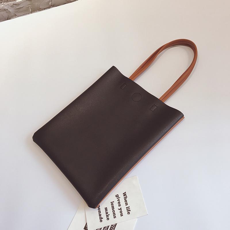 女包2018新款韩版潮chic文艺软皮包托特包百搭ins手提包单肩大包