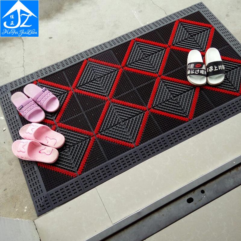 入门地垫家用塑料入户门进门蹭土除尘免洗门口脚垫拼接三合一地毯