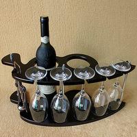 Спеццена промоакция деревянный вино вино полка творческий континентальный виноград дерево вино бокал полка лить вешать вино украшение