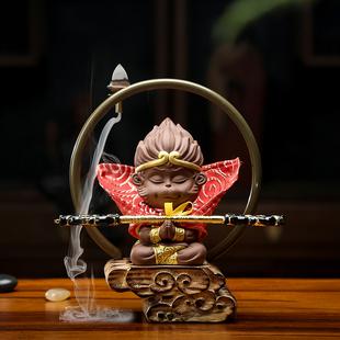 茶寵擺件鬥戰勝佛齊天大聖美猴王悟空金箍棒精品創意紫砂茶道配件
