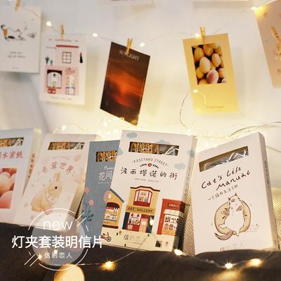 官方直售 信的恋人明信片诗意花草水蜜桃夕阳风景可爱猫咪生活
