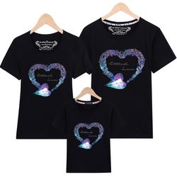 亲子装夏装2020新款潮全家装一家三口母子母女装纯棉短袖t恤春装