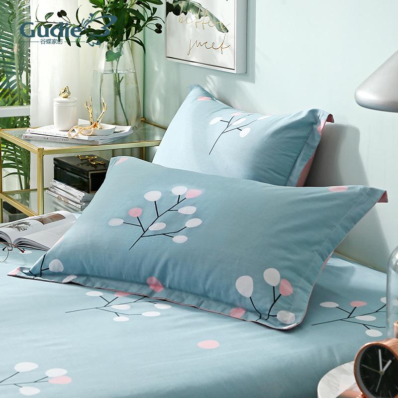 纯棉枕头套 儿童加厚单人全棉枕套一对装学生宿舍用枕芯套48x74cm