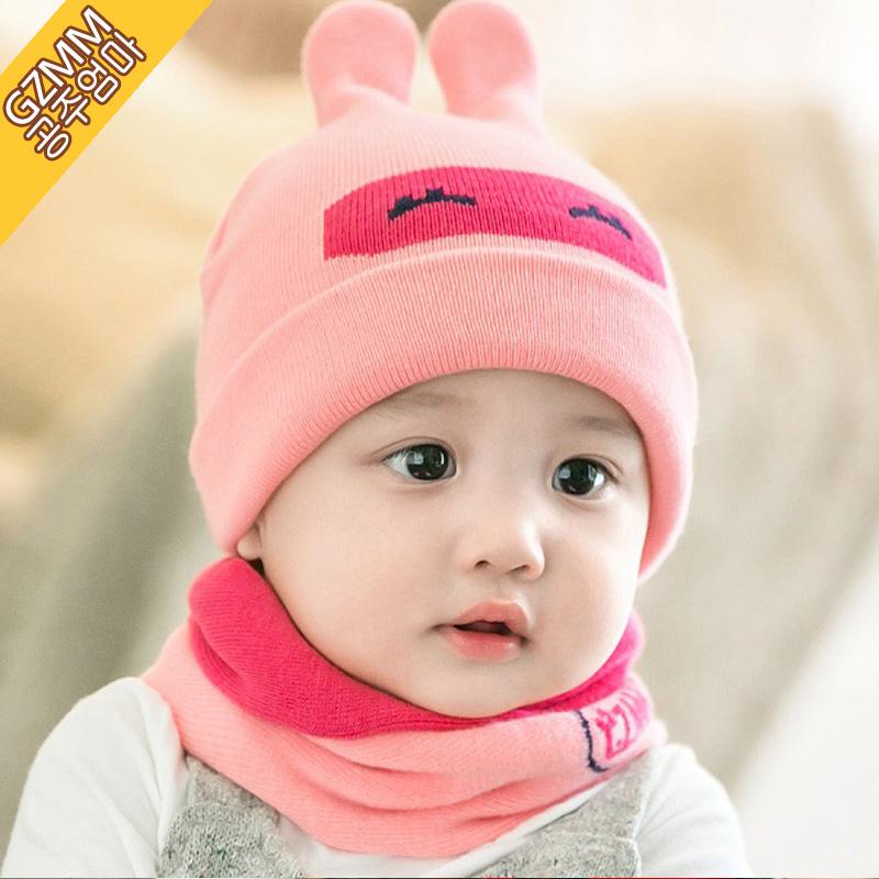 Ребенок шляпа весна 0-3-6-12 месяцы мальчиков девушка шляпа осенью и зимой новорожденных теплая шерсть линия крышка