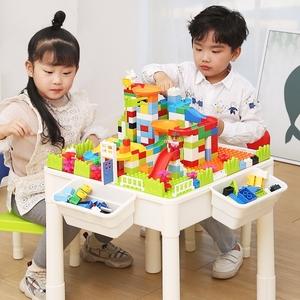 多功能积木桌子男孩子2-5-6女孩周岁儿童益智拼插积木拼装玩具桌