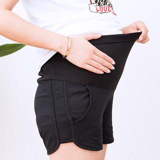 孕妇夏季外穿打底裤薄款短裤2019年新款时尚休闲可调节孕妇托腹裤