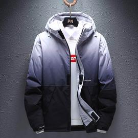 棉衣男冬季新款渐变潮流加厚棉袄青少年时尚学生保暖外套羽绒棉服图片
