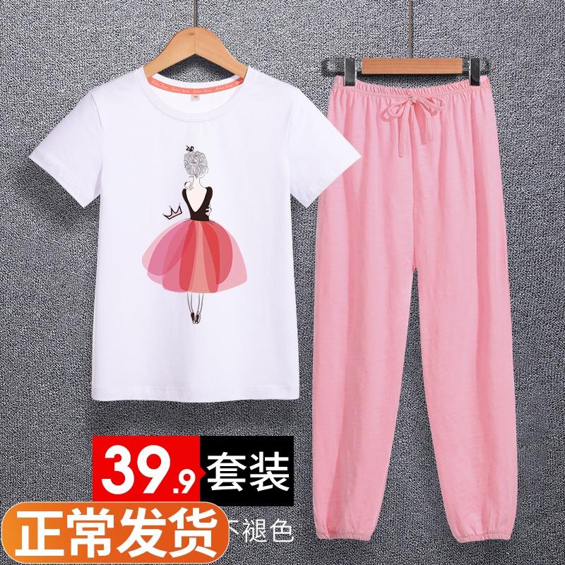 Quần chống muỗi cho bé gái Mùa hè mỏng giữa mùa hè Trẻ em mùa hè Bộ đồ thể thao Găng tay trẻ em Quần legging Quần legging Quần bé - Quần