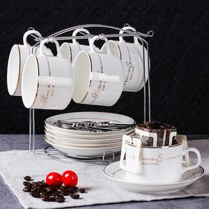 啡忆欧式咖啡杯套装简约家用陶瓷杯