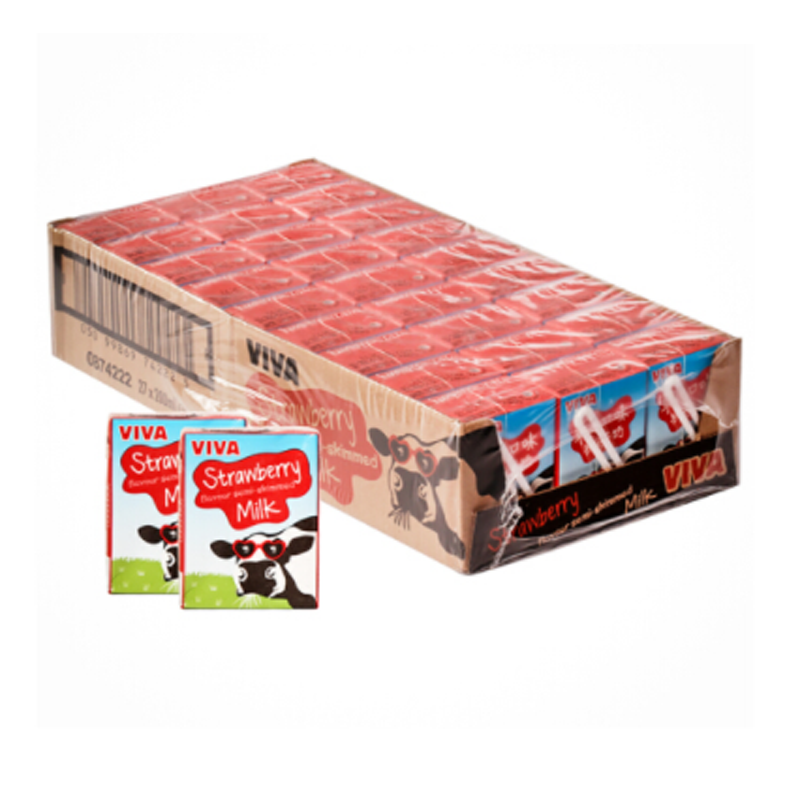 Package mail milk imported from UK Viva Strawberry Milk 200ml * 27 boxes available in UK supermarket