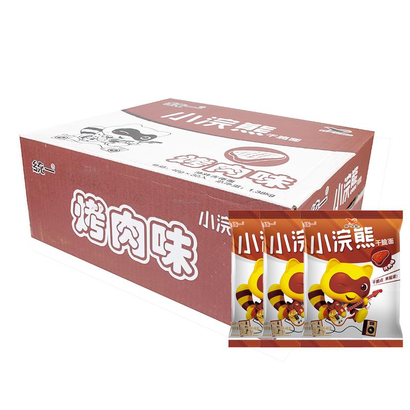 ~天貓超市~統一小浣熊 烤肉味幹脆麵 50g^~30袋 整箱 零食