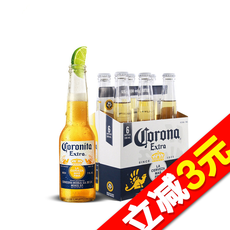 ~天貓超市~墨西哥  科羅娜啤酒330ml^~6瓶 箱 大包裝