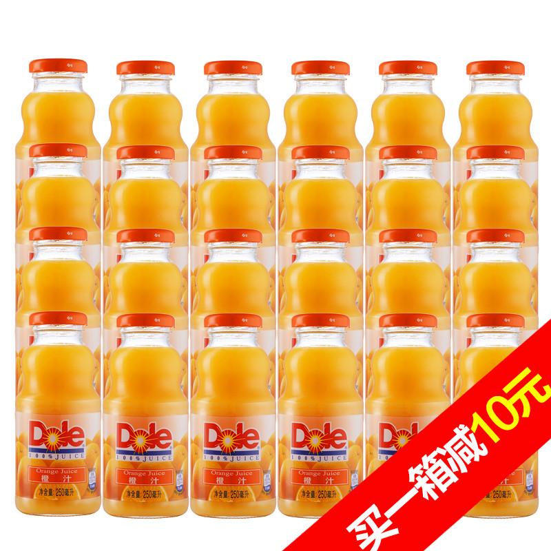 ~天貓超市~都樂100^%橙汁玻璃瓶整箱250ml^~24百事 果汁飲料