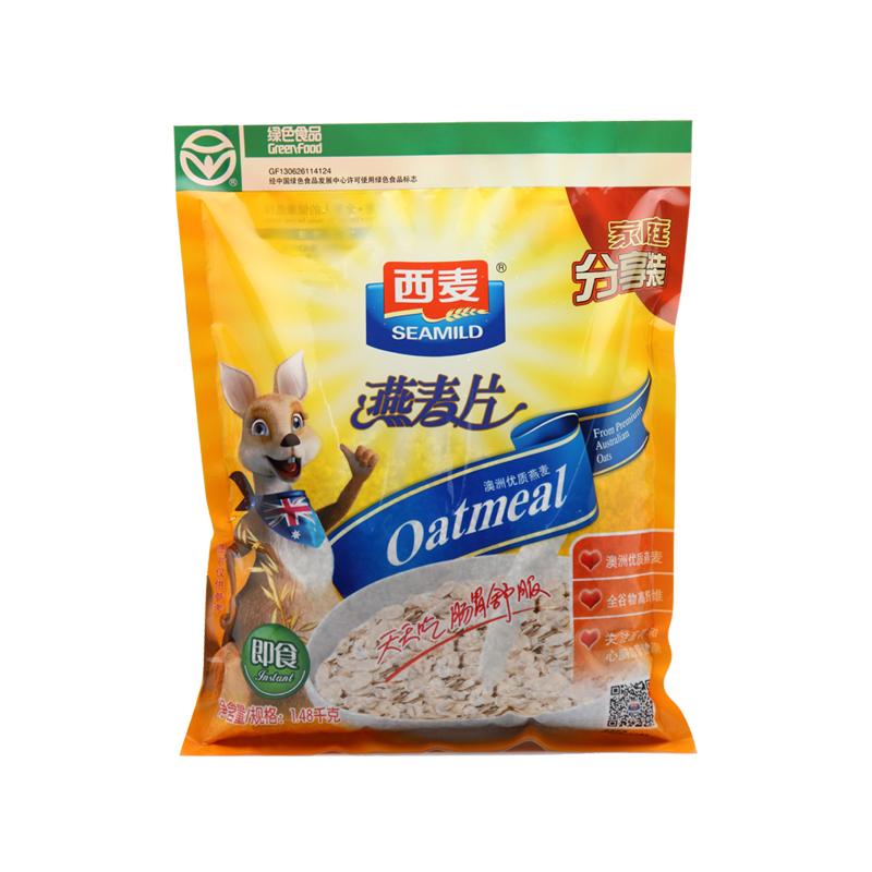 ~天貓超市~西麥 燕麥片1480g無糖免煮即食衝飲營養早餐零食品