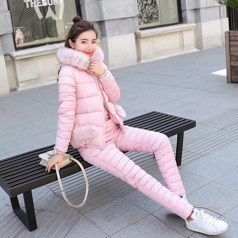 2018冬季新款短款棉衣套�b女加厚棉�\�r尚羽�q棉服�杉�套外套冬�b