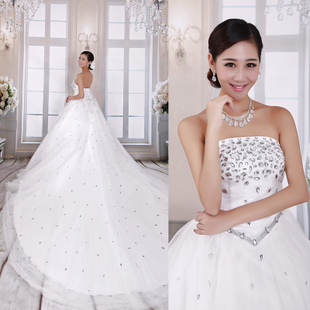 2013 new Korean princess diamond luxury wedding dress trailing wedding European