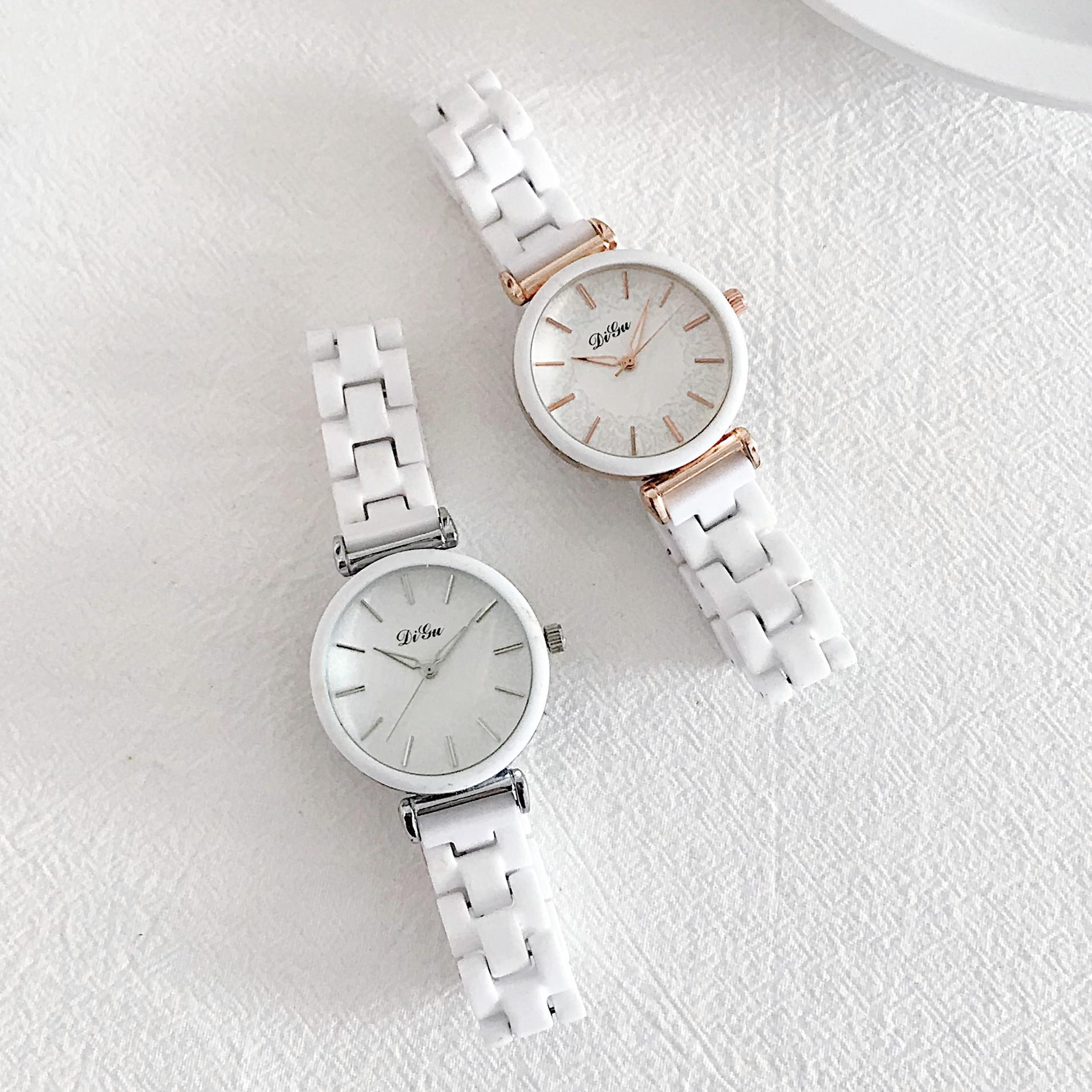 陶瓷ins风显白色韩版简约气质手表