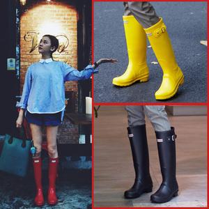 雨鞋女士防滑时尚款户外穿马靴胶鞋韩国可爱水鞋女高筒雨靴女