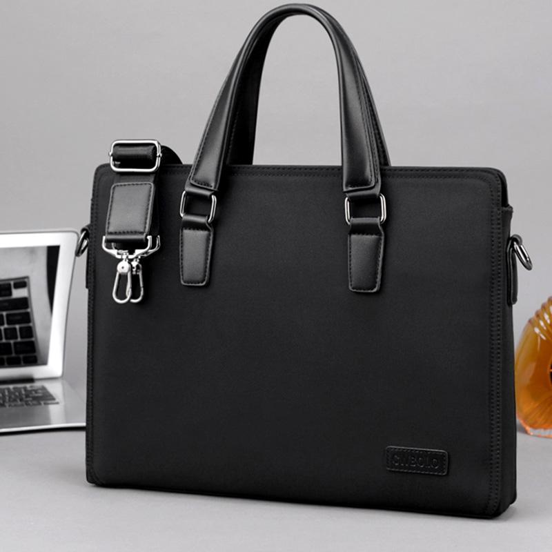 Paul Oxford cloth mens briefcase simple business handbag casual Canvas Shoulder Bag horizontal computer bag