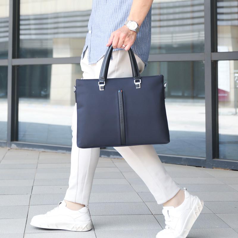 Paul mens business briefcase Oxford cloth leisure handbag mens fashion handbag canvas horizontal computer bag