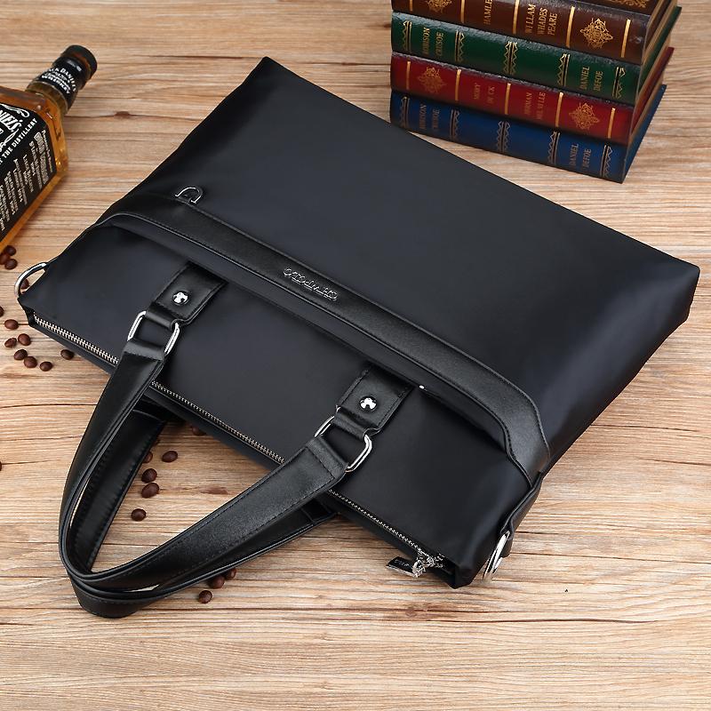 Paul business one shoulder handbag Oxford cloth leisure briefcase mens Nylon handbag horizontal canvas computer bag