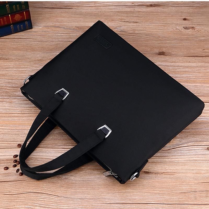 Paul Oxford cloth handbag mens business briefcase cloth simple hand carrying horizontal canvas one shoulder computer bag men