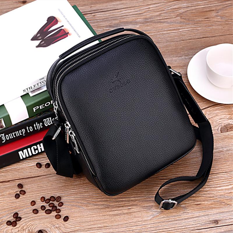Paul Mini mens portable single shoulder bag casual leather messenger bag business trend cowhide small bag hanging bag man