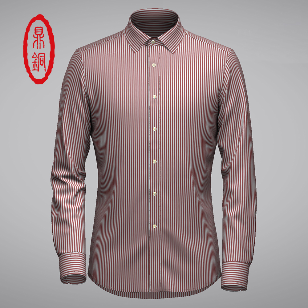 Private customized GR high-end spring and autumn striped shirt customized business dress cotton breathable Long Sleeve Shirt