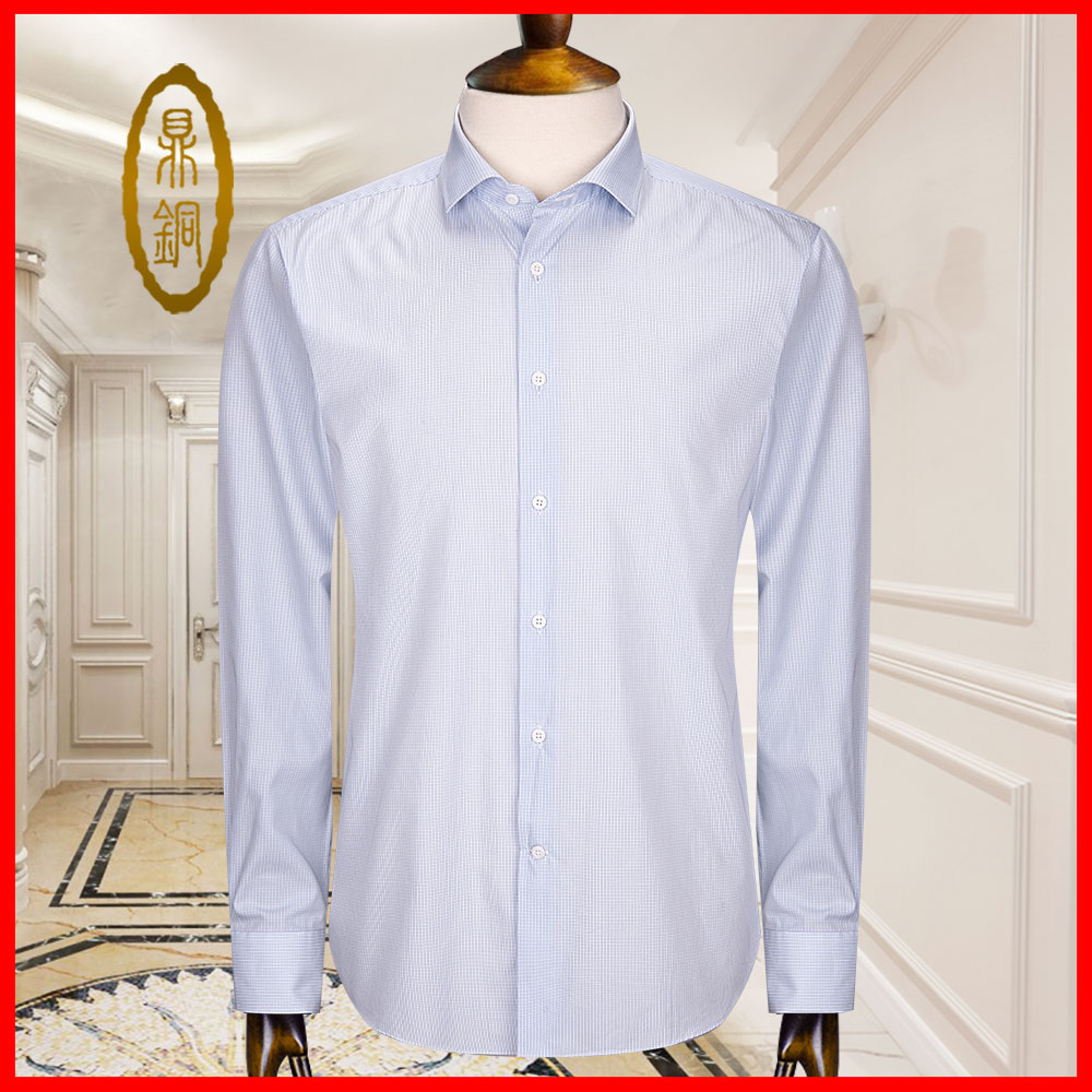 Shirt mens long sleeve cotton custom striped shirt spring and autumn middle-aged and old versatile simple base Lapel casual shirt