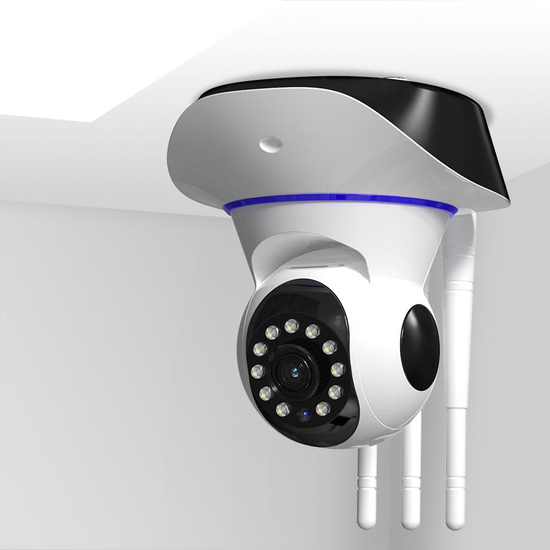 无线360度全景摄像头手机wifi网络远程室外家用高清夜视监控器图片