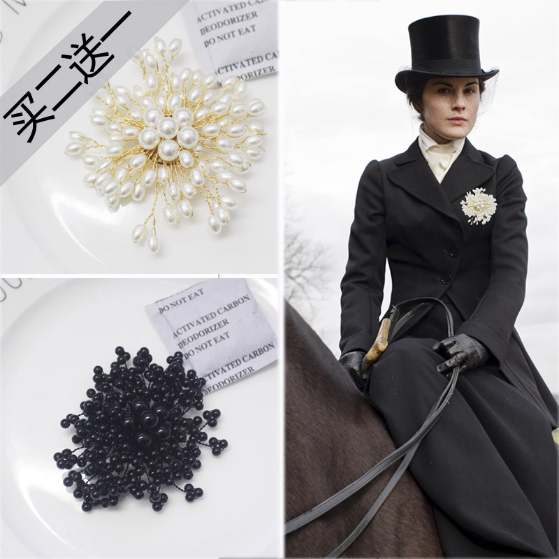 European and American imitation pearl brooch womens hairpin Chinese style versatile coat suit top grade accessories Brooch Pin