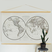 World Map Hanging Poster