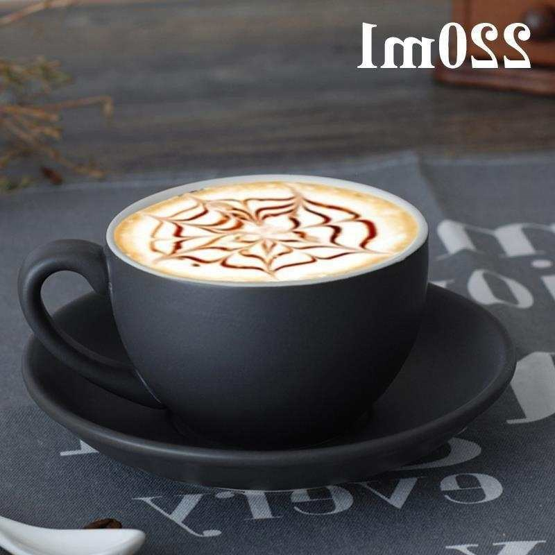 Thickened ceramic coffee cup fancy cappuccino latte Italian