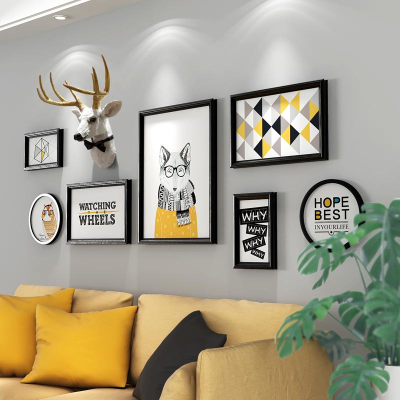 北欧风格鹿头装饰画墙画客厅墙面沙发背景墙现代简约壁画餐厅挂画