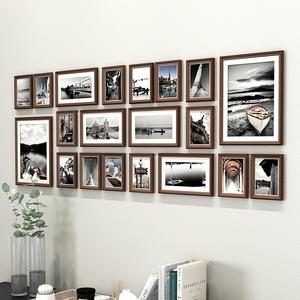 实木免打孔公司文化墙装饰框相框墙