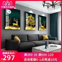 客廳餐廳臥室床頭裝飾畫壁畫現代中式國畫掛畫牡丹花開富貴墻畫