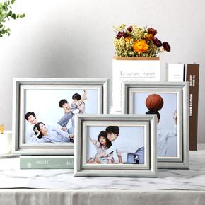 创意宝宝6 7 8 10寸相框摆台婚纱照相册洗照片加制作摆件来图定制