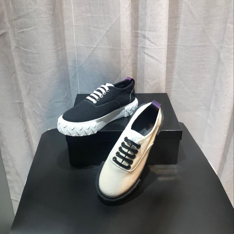 欧货潮牌女鞋厚底系带学生帆布鞋低帮休闲运动板鞋真皮圆头松糕鞋
