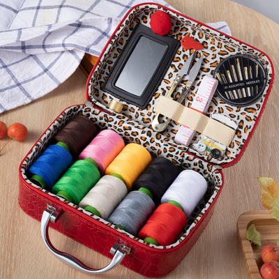 针线盒结婚嫁妆陪嫁针线套装家用针线包工具缝纫用品便携收纳盒