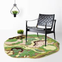 圣瓦伦丁创意苔藓森林地毯现代简约地垫卧室儿童房床边毯家用防滑