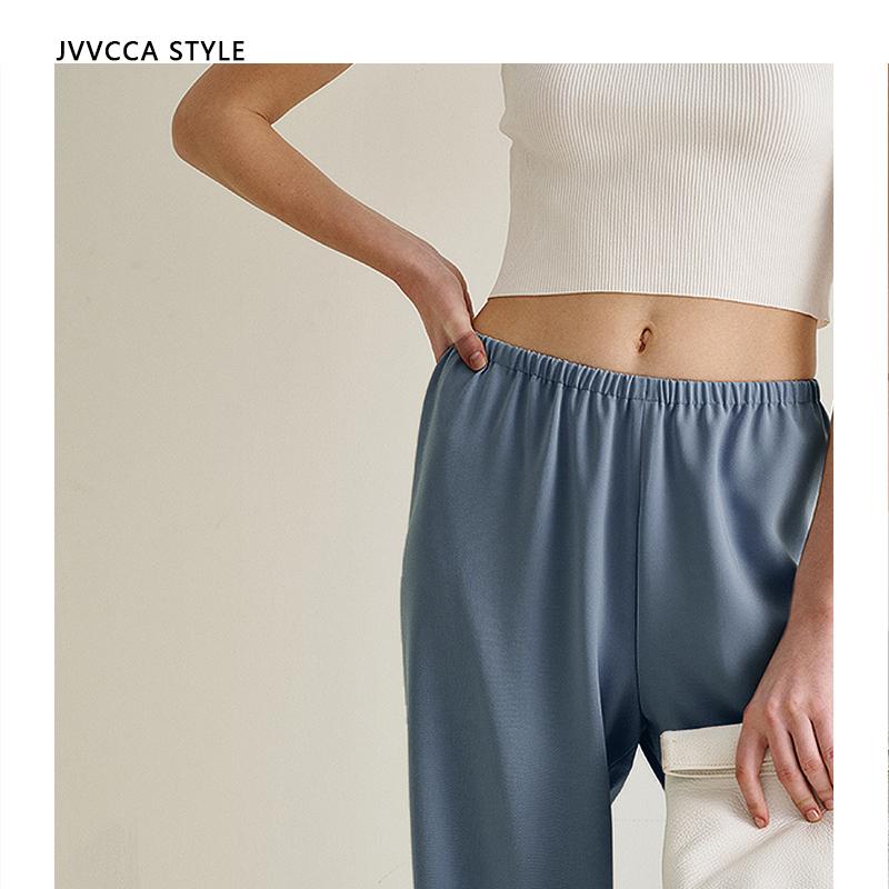 阿超 Jvvcca Style 20SS 空气神裤 雾霾蓝高腰直筒阔腿长裤女